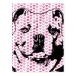 Tarjetas del día de San Valentín - silueta del dog Postales