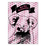 Tarjetas del día de San Valentín - silueta del oso