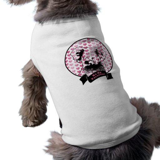 Tarjetas del día de San Valentín - silueta del oso Camisetas De Mascota