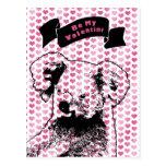 Tarjetas del día de San Valentín - silueta del oso Tarjeta Postal