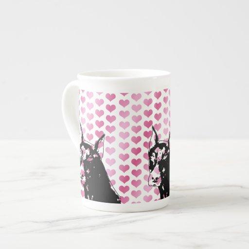 Tarjetas del día de San Valentín - silueta del per Tazas De Porcelana