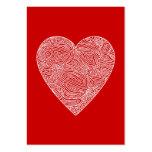 Tarjetas del día de San Valentín Tarjetas De Visita