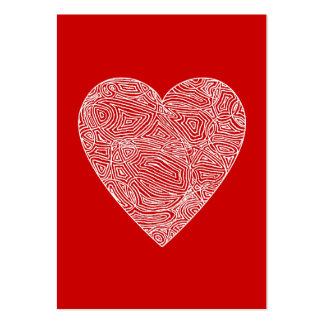 Tarjetas del día de San Valentín Tarjetas De Visita Grandes