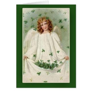 Tarjetas del día de St Patrick del ángel del trébo