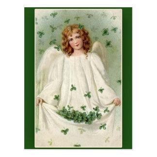 Tarjetas del día de St Patrick del ángel del trébo Postal