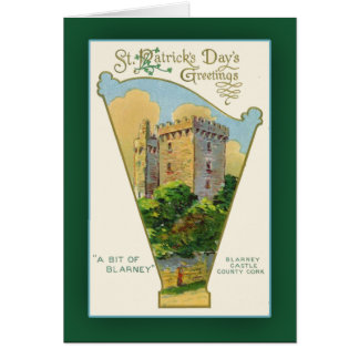 Tarjetas del día de St Patrick del castillo de la
