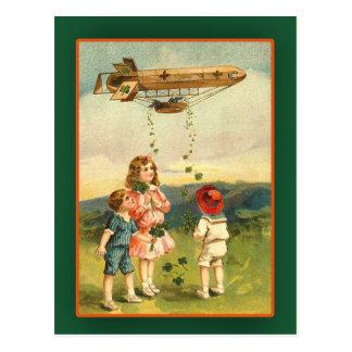 Tarjetas del día de St Patrick dirigible irlandés Postales