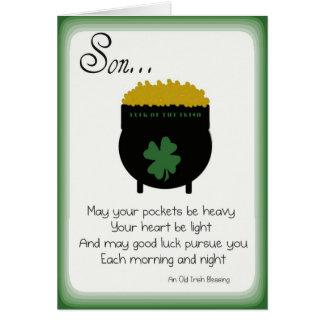 Tarjetas del día de St Patrick para el hijo
