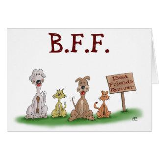 Tarjetas del dibujo animado: Mejores amigos para s