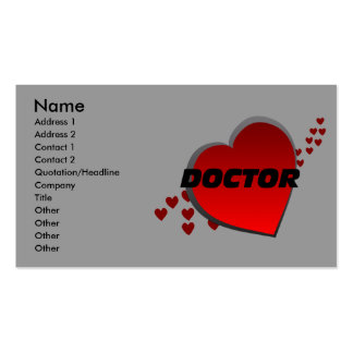 Tarjetas del doctor visita del corazón tarjetas de visita