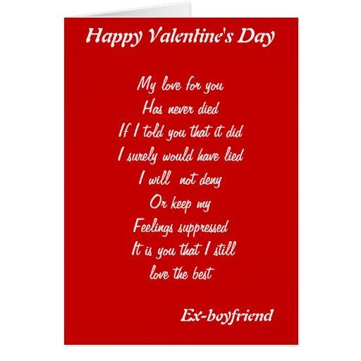 tarjetas del el día de San Valentín del Ex-novio