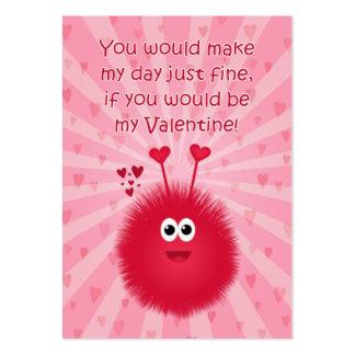 Tarjetas del el día de San Valentín del insecto Tarjetas De Visita Grandes