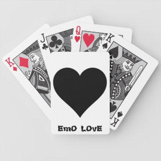 tarjetas del emo barajas de cartas