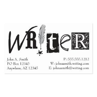 Tarjetas del escritor plantilla de tarjeta personal