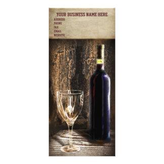 tarjetas del estante de la degustación de vinos lonas publicitarias