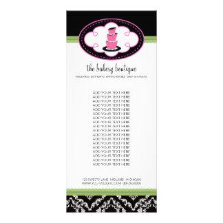 Tarjetas del estante del boutique de la panadería tarjeta publicitaria personalizada