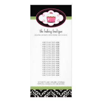 Tarjetas del estante del boutique de la panadería tarjetas publicitarias a todo color