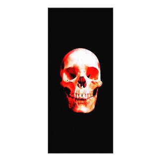 Tarjetas del estante del cráneo tarjeta publicitaria