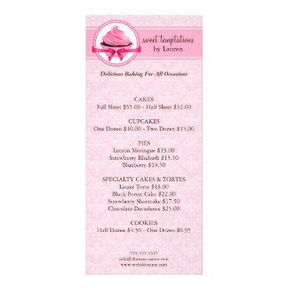 Tarjetas del estante del negocio de la panadería lonas
