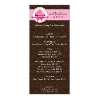 Tarjetas del estante del negocio de la panadería tarjetas publicitarias personalizadas
