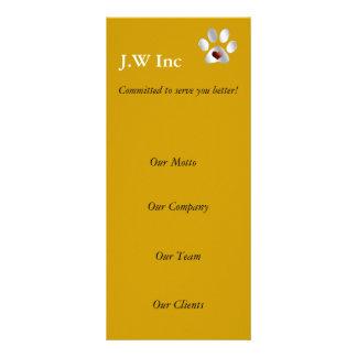 tarjetas del estante del negocio del cuidado de an diseño de tarjeta publicitaria