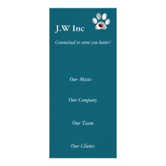 tarjetas del estante del negocio del cuidado de tarjeta publicitaria