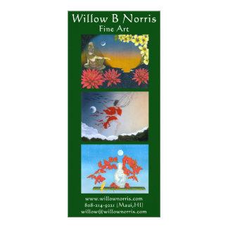 Tarjetas del estante del sauce tarjetas publicitarias