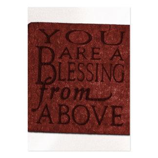Tarjetas del estilo del negocio de la bendición tarjetas de visita grandes