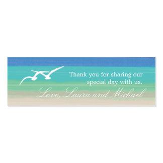 Tarjetas del favor de la arena, del mar y de las g tarjeta de visita