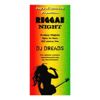 Tarjetas del fiesta de la noche del reggae o del lonas publicitarias