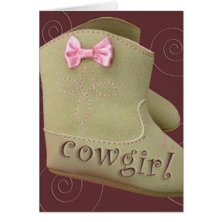 Tarjetas del fiesta de la vaquera