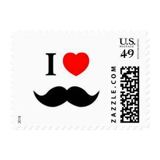 Tarjetas del franqueo del bigote sellos