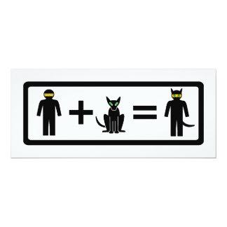 Tarjetas del gato de Ninja Invitaciones Personalizada