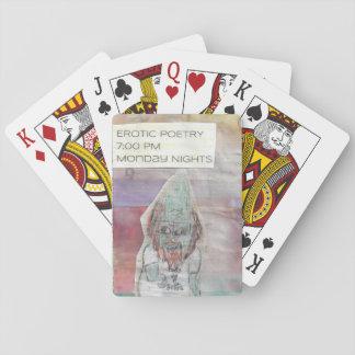 Tarjetas del gnomo de la poesía cartas de póquer