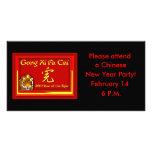 Tarjetas del gongo XI Fa Cai, Notecards, saludos Tarjetas Con Fotos Personalizadas