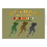 Tarjetas del guerrero del veterano de Vietnam, pos