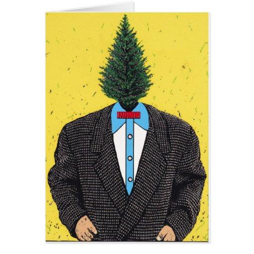 Tarjetas del hombre del árbol
