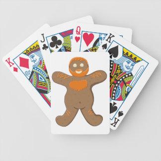 Tarjetas del hombre del oso del jengibre barajas de cartas