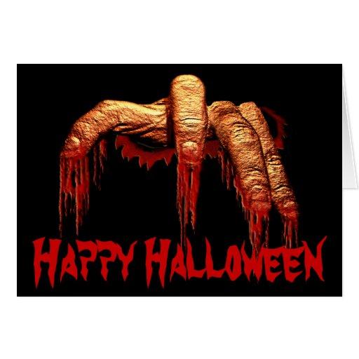 Tarjetas del horror del zombi de las invitaciones
