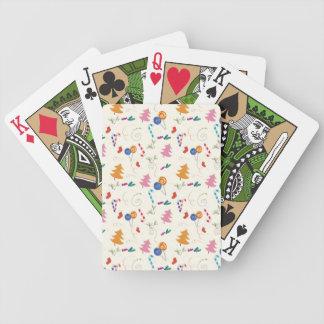 Tarjetas del juego del navidad 1 barajas de cartas