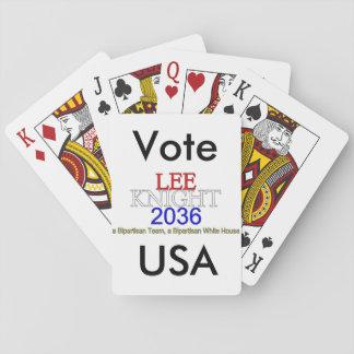 Tarjetas del Lee-Caballero 2036 de los E.E.U.U. de Cartas De Póquer