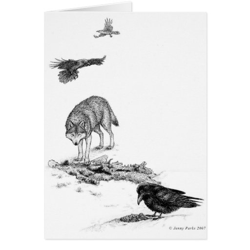 Tarjetas del lobo y de los cuervos