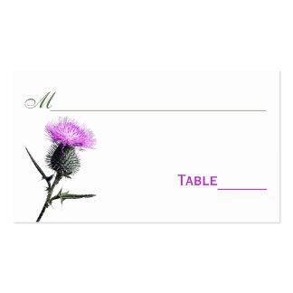 Tarjetas del lugar de la flor del cardo púrpura, v tarjetas de visita