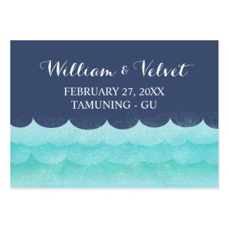 Tarjetas del lugar de la playa de las olas oceánic plantillas de tarjeta de negocio
