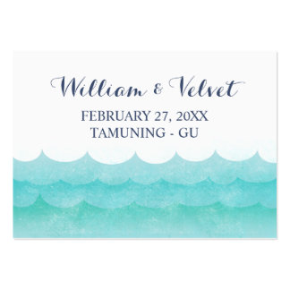 Tarjetas del lugar de la playa de las olas oceánic plantillas de tarjetas personales