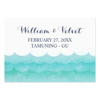 Tarjetas del lugar de la playa de las olas tarjetas de visita grandes