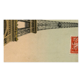 Tarjetas del lugar de la postal de la torre Eiffel