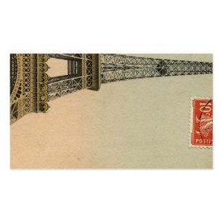 Tarjetas del lugar de la postal de la torre Eiffel Tarjetas De Visita
