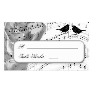 Tarjetas del lugar de la tabla del asiento del bod tarjetas personales