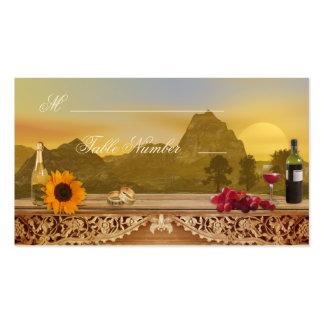 Tarjetas del lugar de la tabla del asiento del tarjetas de visita